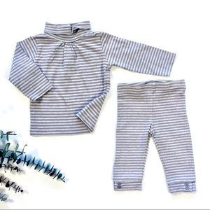 6m Purple/Grey Striped Outfit